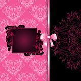 Frame on lace background with bow Stock Images