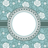 Frame with lace flowers Stock Photography