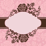 Frame with lace flowers Royalty Free Stock Image