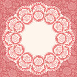 Frame with lace flowers Royalty Free Stock Photography