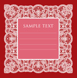Frame  lace-like Royalty Free Stock Images
