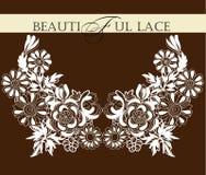 Frame lace-like Stock Photo