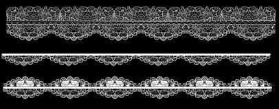 Frame lace-like Stock Image