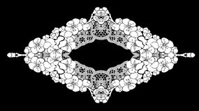 Frame lace-like Royalty Free Stock Photo