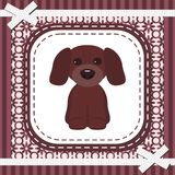 Frame with lace and nice dog Royalty Free Stock Photography