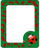 Frame with ladybird. Stock Photos