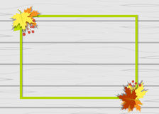 Frame leaves autumn tree. Vector vector illustration