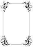 Frame, leaves. Frame with filigree leaves and roses, black Royalty Free Stock Image
