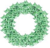 Frame of leaves royalty free illustration