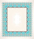 Frame with leaves and swirls Stock Images