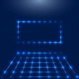 Frame with LED lights Stock Images