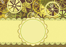 Frame with lemons Stock Photos