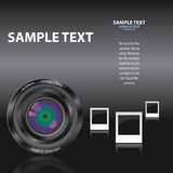 Frame_lens. Abstract Vector Template With Lens and Frames Royalty Free Stock Photography