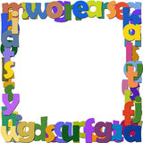 Frame letters. The frame of the letters on a white background Stock Photos