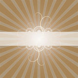 Frame with Lightbursts. Frame with swirl and lightburst design, mocha chocolate background, vector illustration Stock Photos