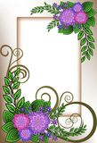 Frame of lilac flowers Stock Photos