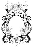 Frame with lilies Stock Illustration