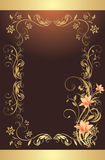 Frame with lilies. Pattern for design Stock Photos
