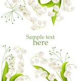 frame lilies valley иллюстрация вектора