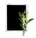 Frame with lily of the valley Stock Photo