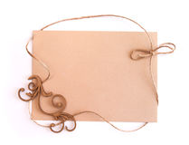 Frame of linen thread and space for text Royalty Free Stock Photo