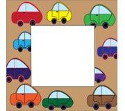 Frame little cars Stock Photo