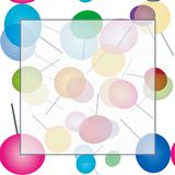 Frame with lollipops Royalty Free Stock Images