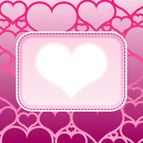 Frame love Royalty Free Stock Photography