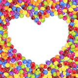 Frame of love colored candies Royalty Free Stock Image