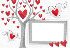 Frame love tree Royalty Free Stock Photo