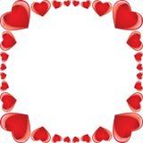 Frame lustroso do coração ilustração do vetor