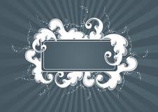 Frame luxuoso cinzento Imagens de Stock
