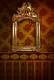 Frame luxury and borders set design decoration pattern and glowing vintage frame on red