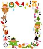 Frame mágico azul do Natal Imagens de Stock Royalty Free