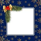 Frame mágico azul do Natal Foto de Stock