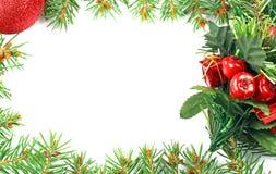 Frame mágico azul do Natal Fotografia de Stock Royalty Free