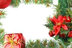 Frame mágico azul do Natal Imagens de Stock
