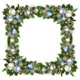 Frame mágico azul do Natal Ilustração do vetor Foto de Stock