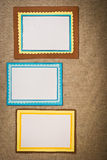 Frame made ​​of paper Royalty Free Stock Photo