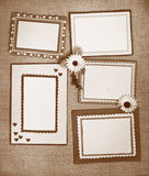 Frame made ​​of paper Stock Image