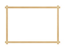 The frame is made of bamboo chips Royalty Free Stock Photography