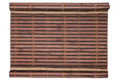 Frame made of bamboo mat in the form  a manuscript and  rope, isolated Royalty Free Stock Images
