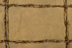 Frame made of barbed wire Royalty Free Stock Photography