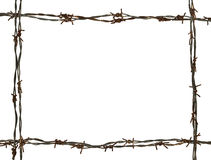 Frame made of barbed wire Royalty Free Stock Image