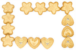 Frame made of biscuits Royalty Free Stock Photo