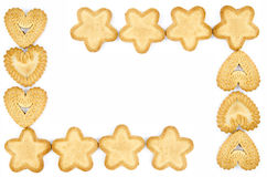 Frame made of biscuits Royalty Free Stock Images