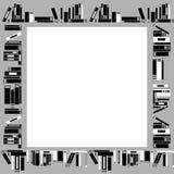 Frame made of books royalty free illustration