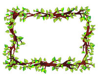 Frame made of branches Royalty Free Stock Images