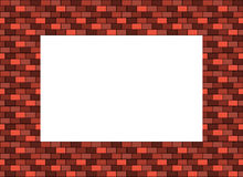 Frame made of bricks in shades of red with blank space inside fo Royalty Free Stock Photos