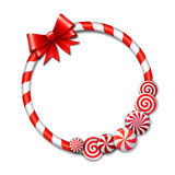 Frame made of candy cane Stock Photo